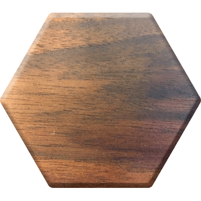 Walnut Elderwood Hex Chest-Hex Chests-Norse Foundry-DND Dice-Polyhedral Dice-D20-Metal Dice-Precision Dice-Luxury Dice-Dungeons and Dragons-D&D-