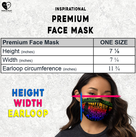 premium fask mask size chart Thespian Heart Clothing