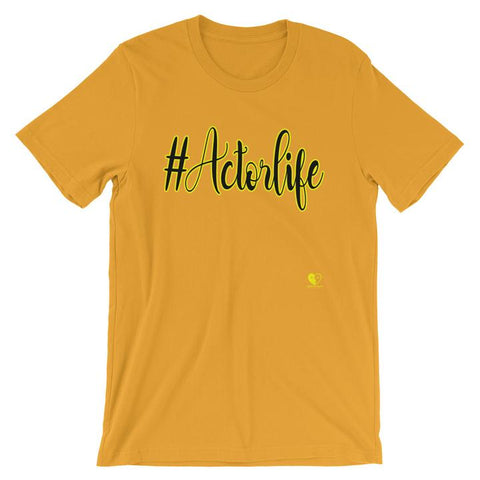 #Actorlife Yellow thespian heart clothing unisex t-shirt