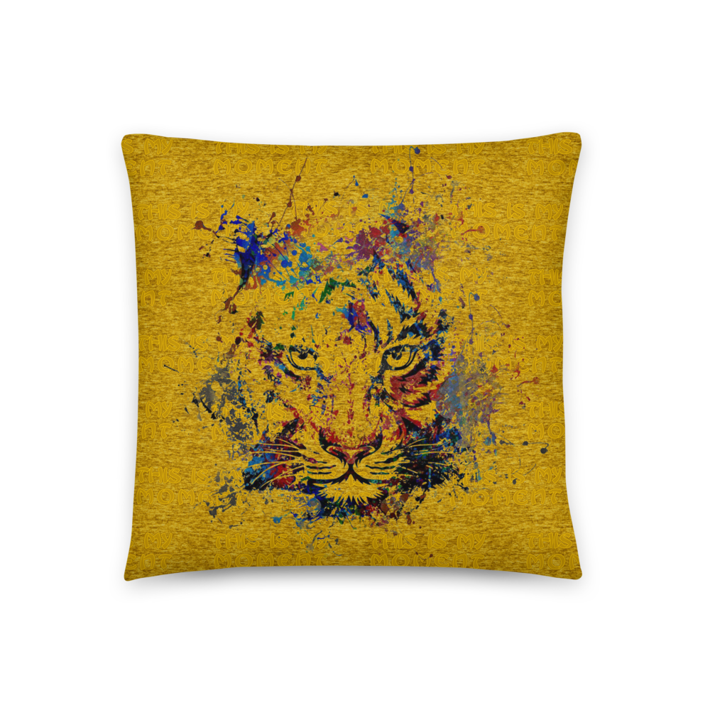 This Is My Moment Tiger | Accent Pillow - THESPIAN HEART CLOTHING
