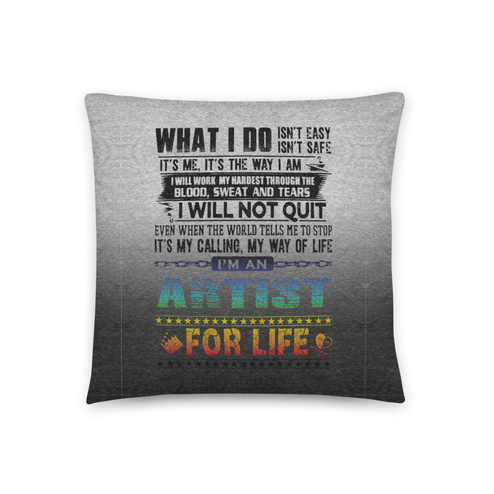 Artist for Life | Accent Pillow - THESPIAN HEART CLOTHING