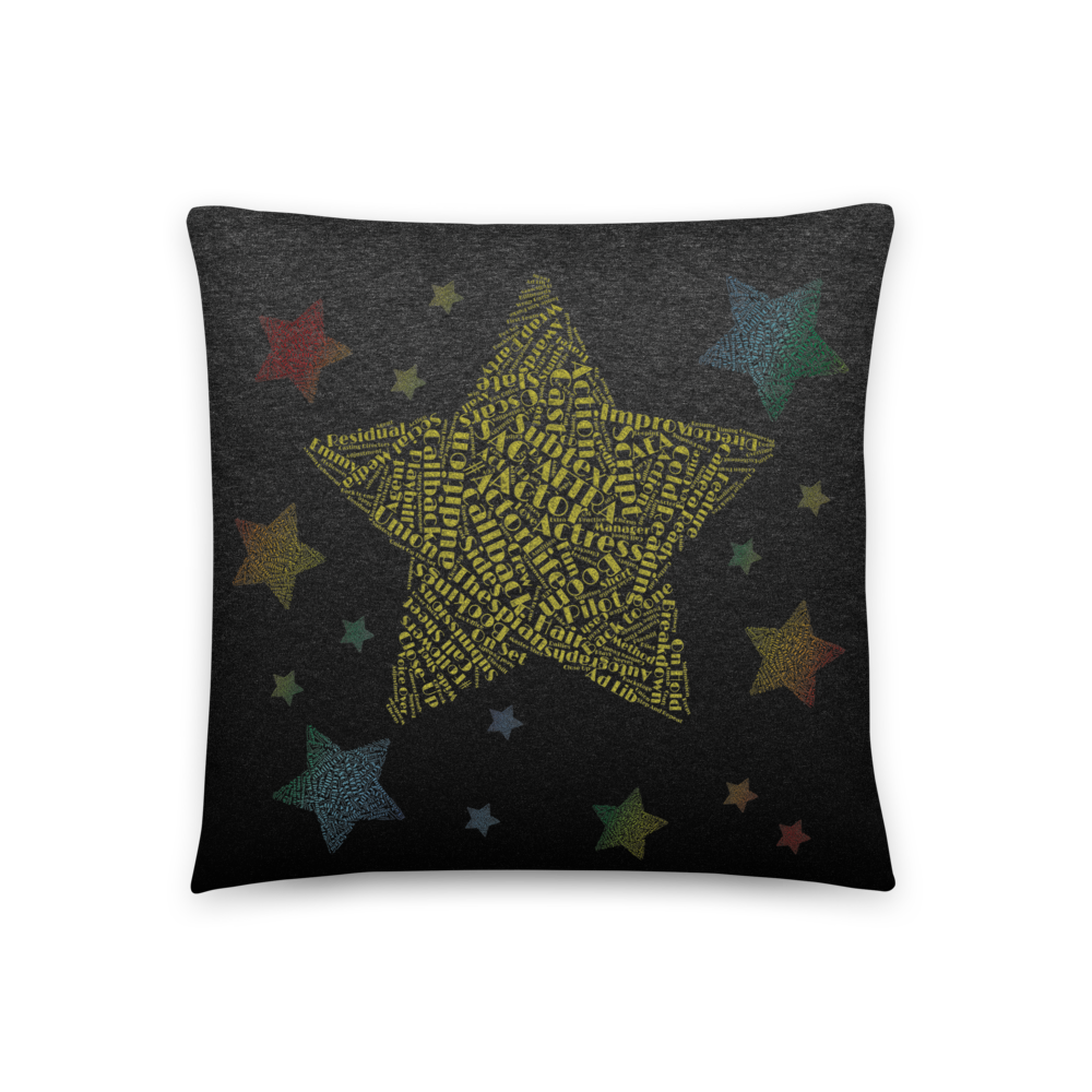 Hollywood Star Actor | Accent Pillow - THESPIAN HEART CLOTHING