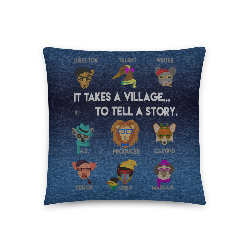It Takes A Village | Accent Pillow - THESPIAN HEART CLOTHING