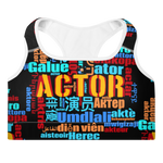Actor in Many Languages | Padded Sports Bra - THESPIAN HEART CLOTHING