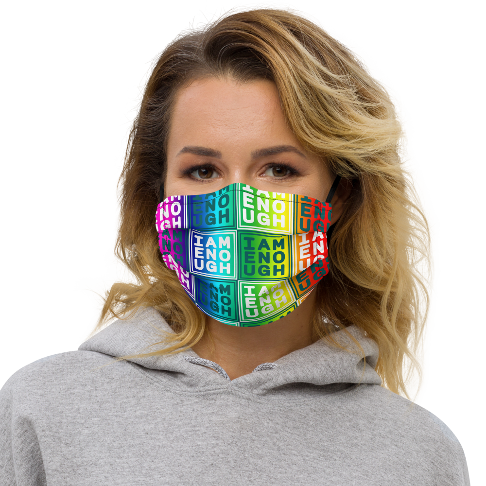 [I AM ENOUGH] Rainbow Premium face mask - THESPIAN HEART CLOTHING