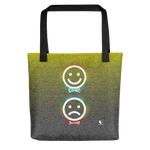 Comedy & Tragedy Emoji | Tote bag - THESPIAN HEART CLOTHING