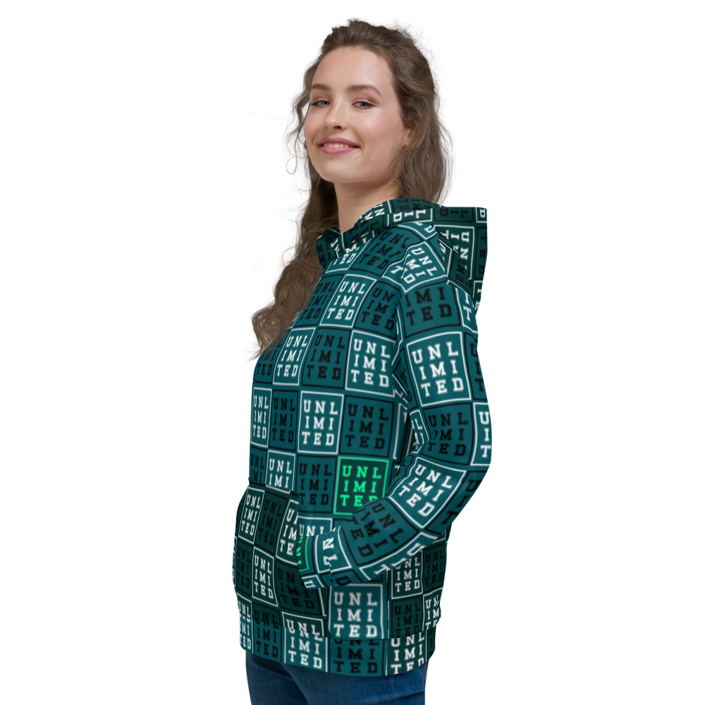 [Unlimited [UNL IMI TED]] All-Over Print Unisex Hoodie Sweatshirt - THESPIAN HEART CLOTHING