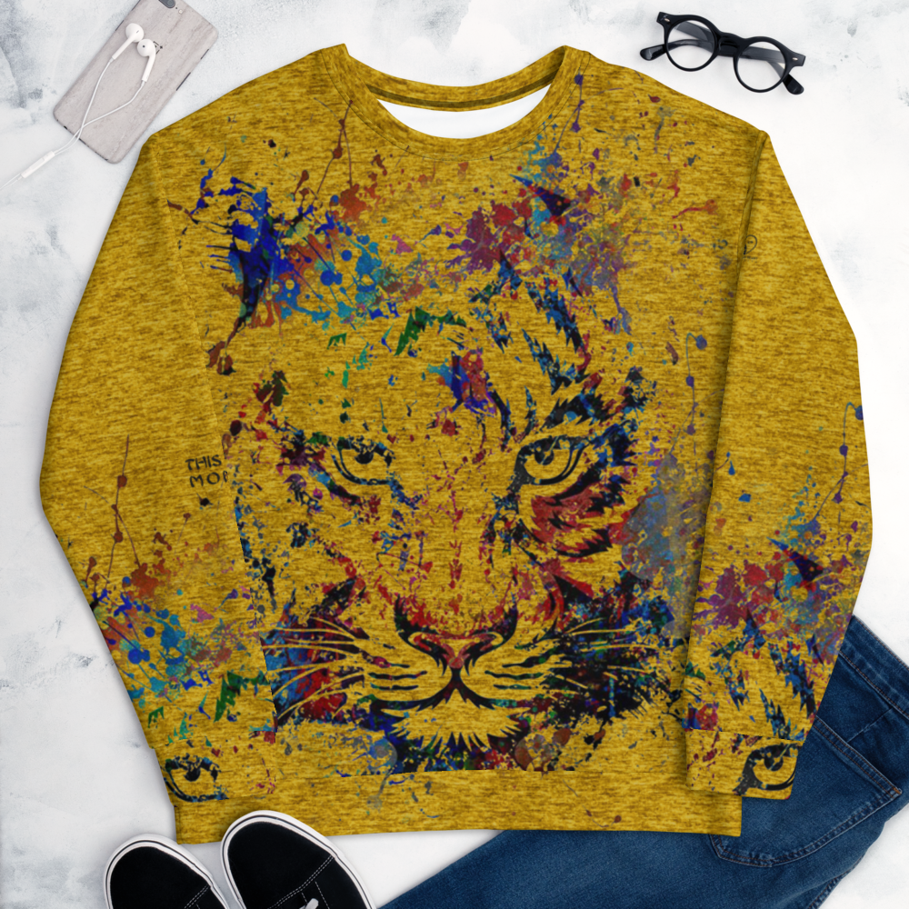 [Tiger -This Is My Moment] All-Over Print Crewneck Unisex Sweatshirt - THESPIAN HEART CLOTHING