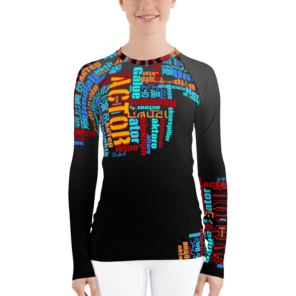 [Actor Language] Women's Rash Guard - THESPIAN HEART CLOTHING