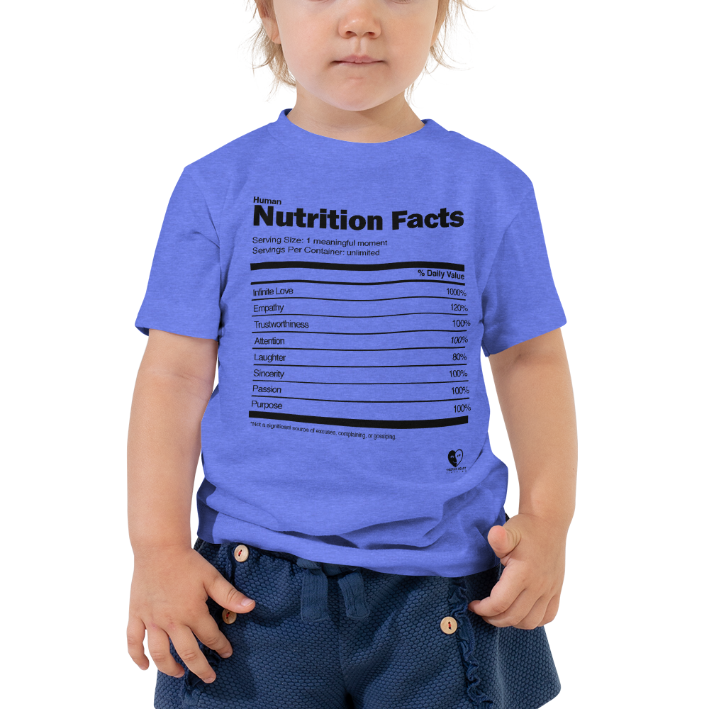 [Nutrition Facts] Toddler Short Sleeve Tee - THESPIAN HEART CLOTHING