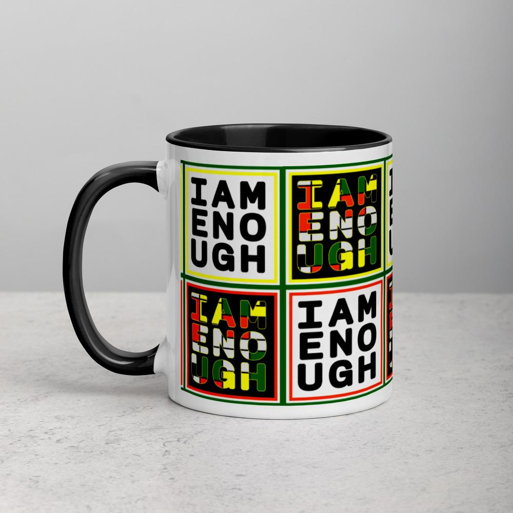 [I Am Enough] Mug with Color Inside - Thespian Heart Clothing