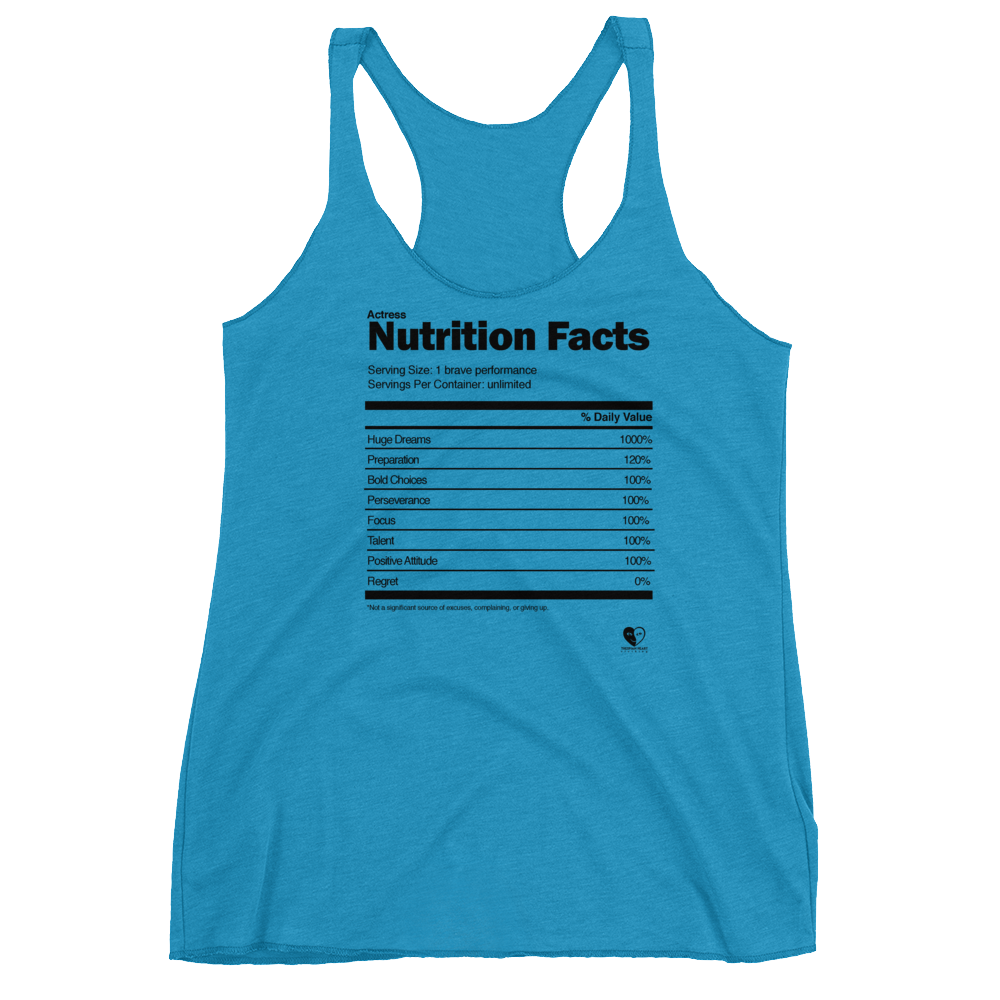 [Actress Nutrition Facts] Women's Racerback Tank