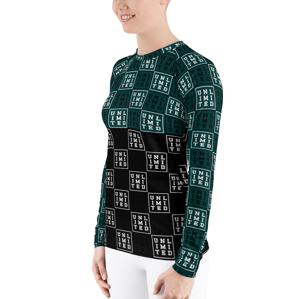[UNL-IMI-TED Square] Women's Rash Guard - Thespian Heart Clothing