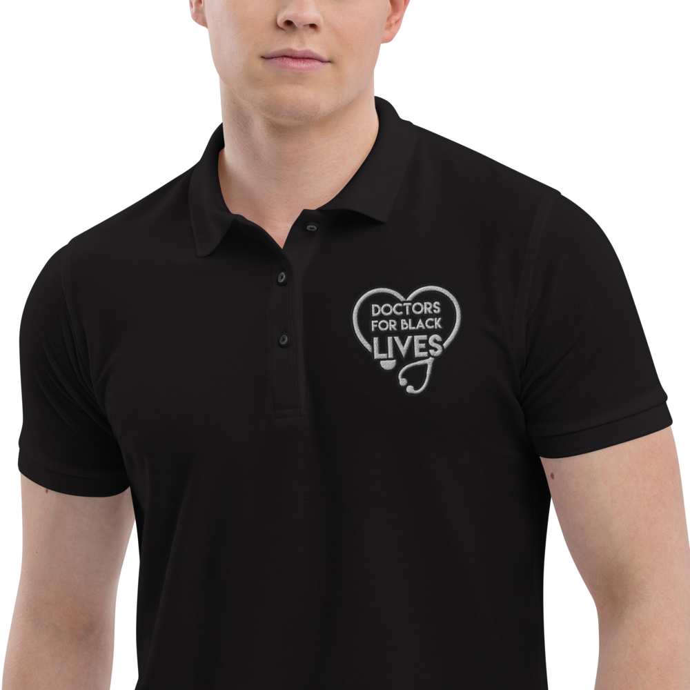 Doctors for Black Lives Men's Premium Polo - Thespian Heart Clothing