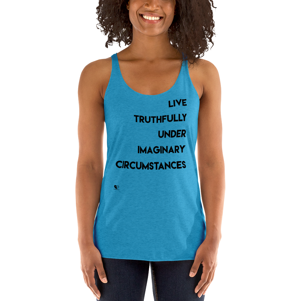 [Live Truthfully Actress] Women's Racerback Tank - Thespian Heart Clothing