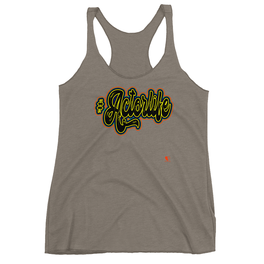 [#Actorlife Yellow] Women's Racerback Tank - THESPIAN HEART CLOTHING