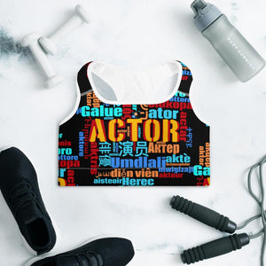 [Actor Languages] Padded Sports Bra - Thespian Heart Clothing