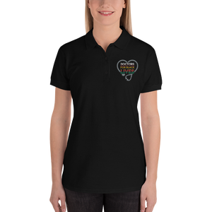 Doctors for Black Lives {Colorful} Embroidered Women's Polo Shirt - Thespian Heart Clothing