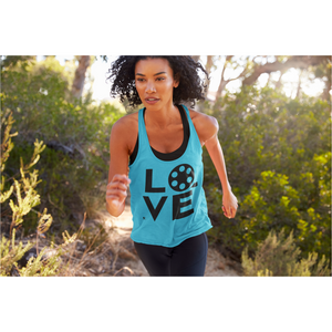 [Love Filmmaking Movies Drama] Women's Racerback Tank - Thespian Heart Clothing