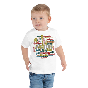 Actor in Languages | Toddler Short Sleeve Tee - THESPIAN HEART CLOTHING