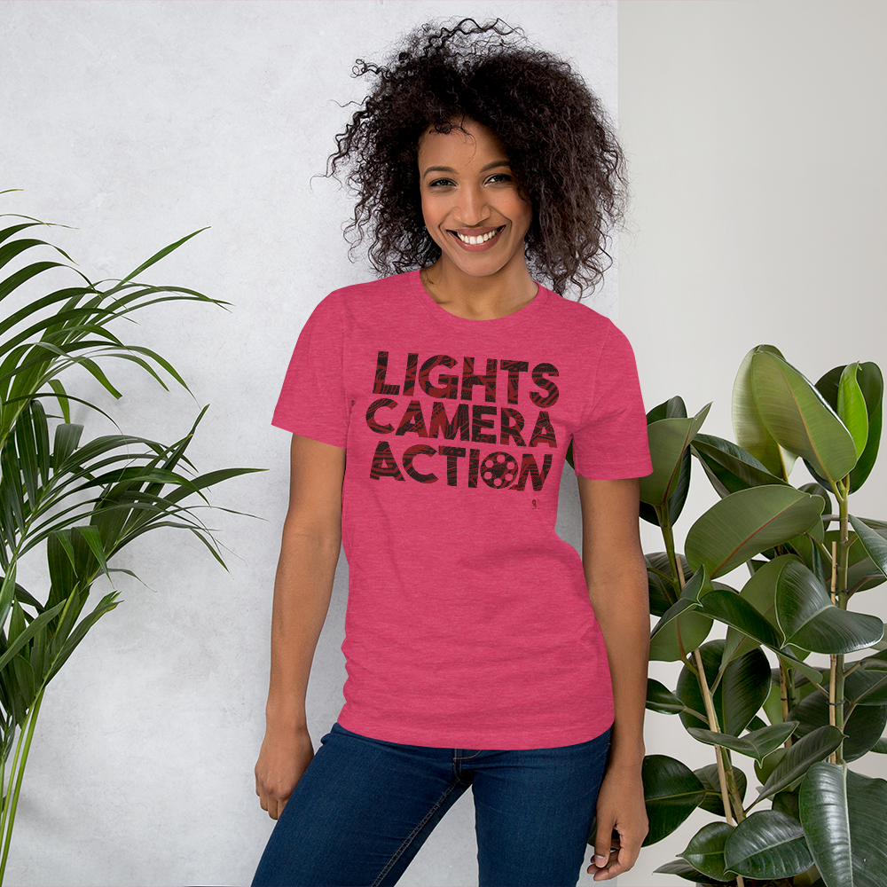 Lights Camera Action | Short-Sleeve Unisex T-Shirt - THESPIAN HEART CLOTHING