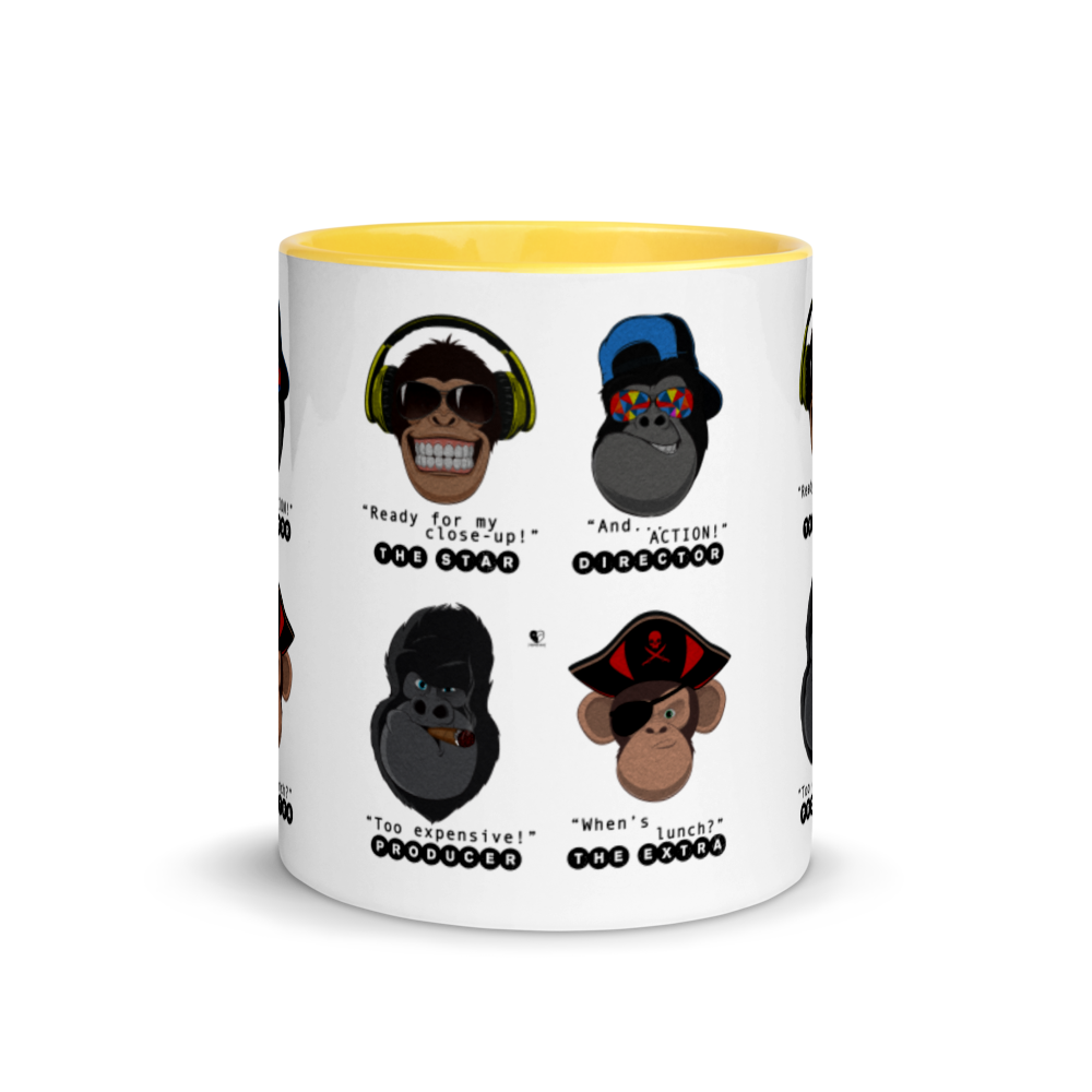 Movie Set Monkeys | Mug with Color Inside - THESPIAN HEART CLOTHING