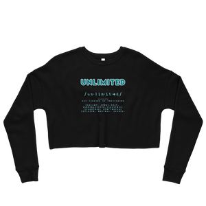 Unlimited | Crop Sweatshirt - THESPIAN HEART CLOTHING