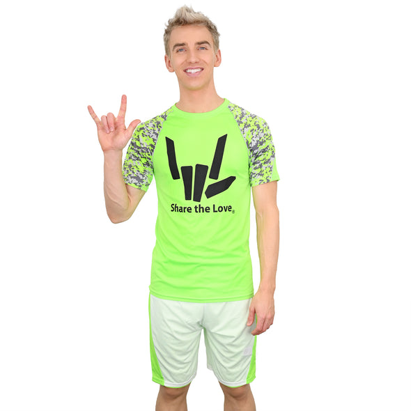 Digi-Camo Athletic Shorts (Lime)