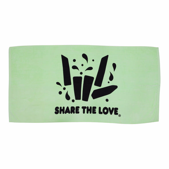 Share the Love Summer Beach Towel (Lime)