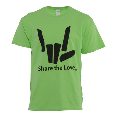 Signature Share the Love Tee (Lime) - StephenSharer