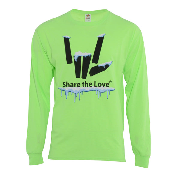 Share the Love Snow Long Sleeve (Lime) - StephenSharer