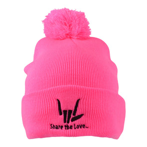 Share the Love Pom Pom Beanie (Pink)