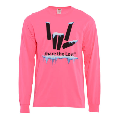 Share the Love Snow Long Sleeve (Pink) - StephenSharer