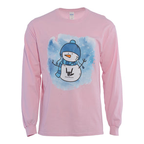Snowman Long Sleeve (Pink) - StephenSharer