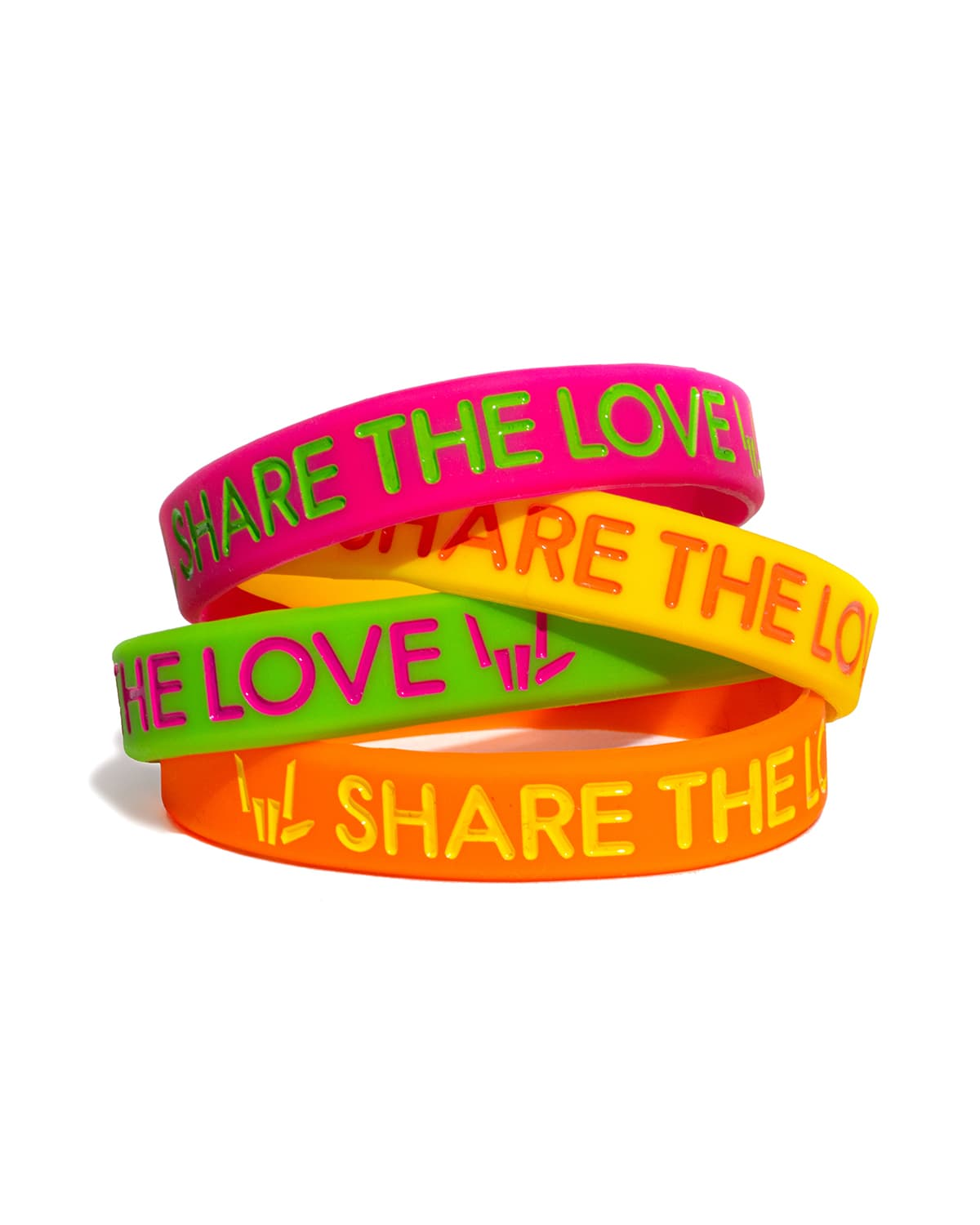 Share The Love Wristband Super 4-Pack