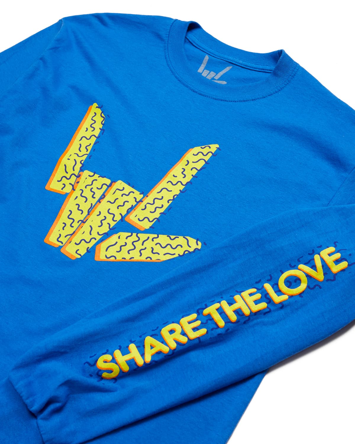 Share The Love 'Confetti' Long Sleeve Tee - Blue