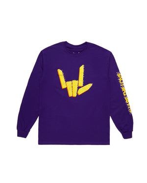 Share The Love 'Confetti' Long Sleeve Tee - Purple