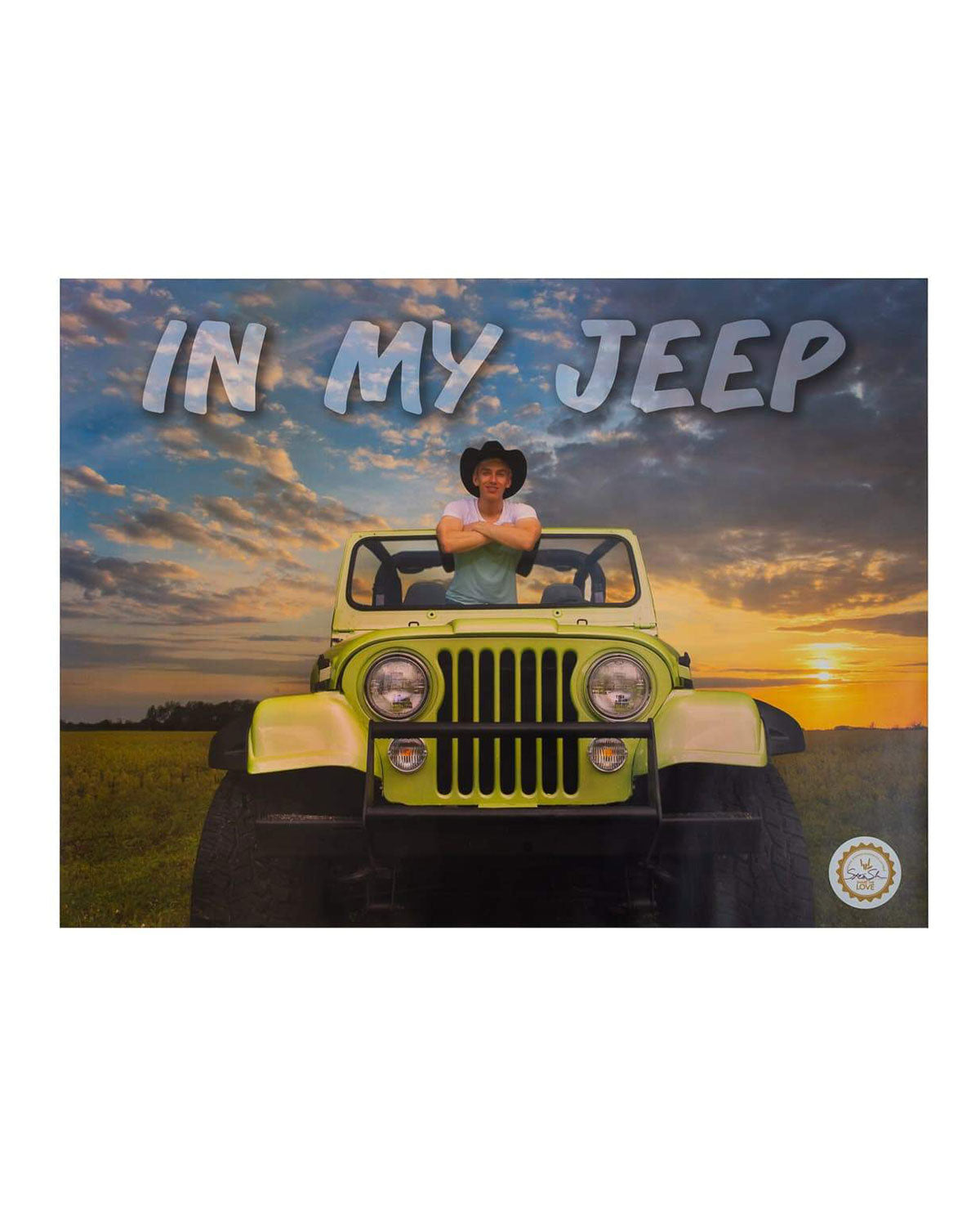 "Limited Edition Stephen Sharer 'In My Jeep' Poster - 18"" x 24"" - SIGNED"