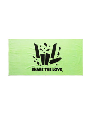 Share The Love Beach Towel - Lime Green