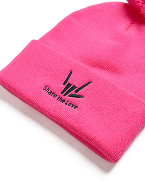 Share The Love Beanie - Pink/Black
