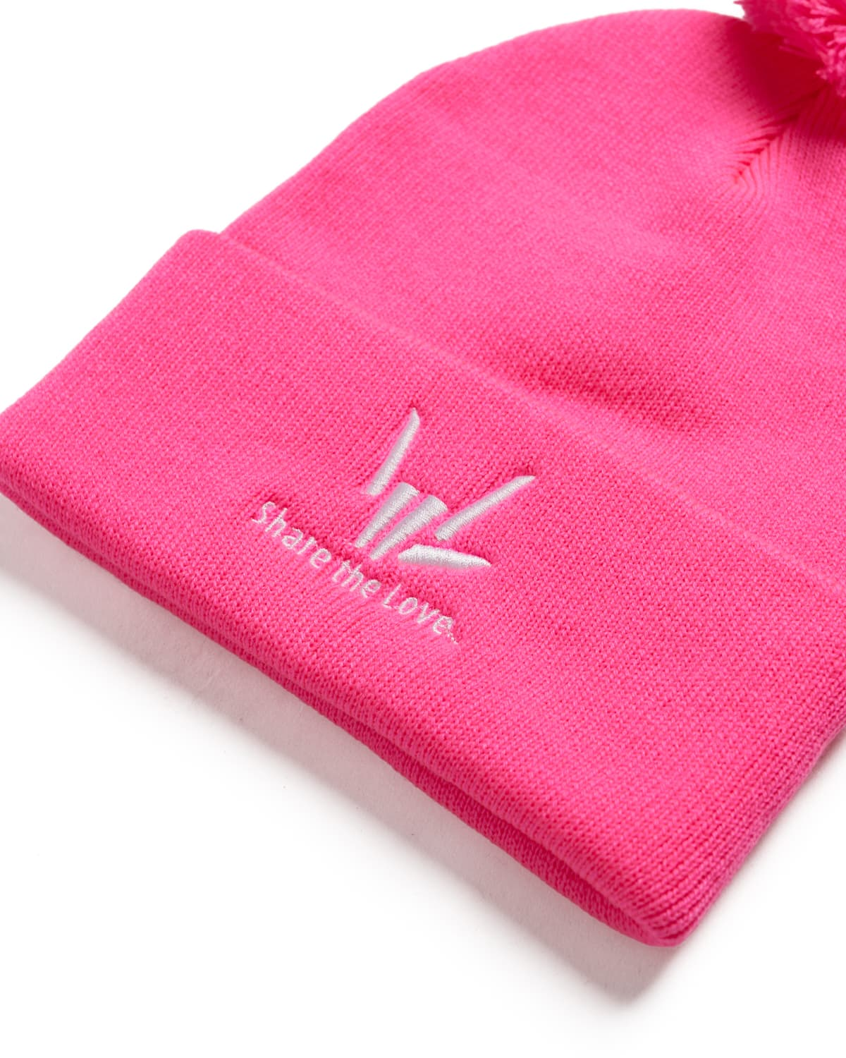 Share The Love Beanie - Pink/White
