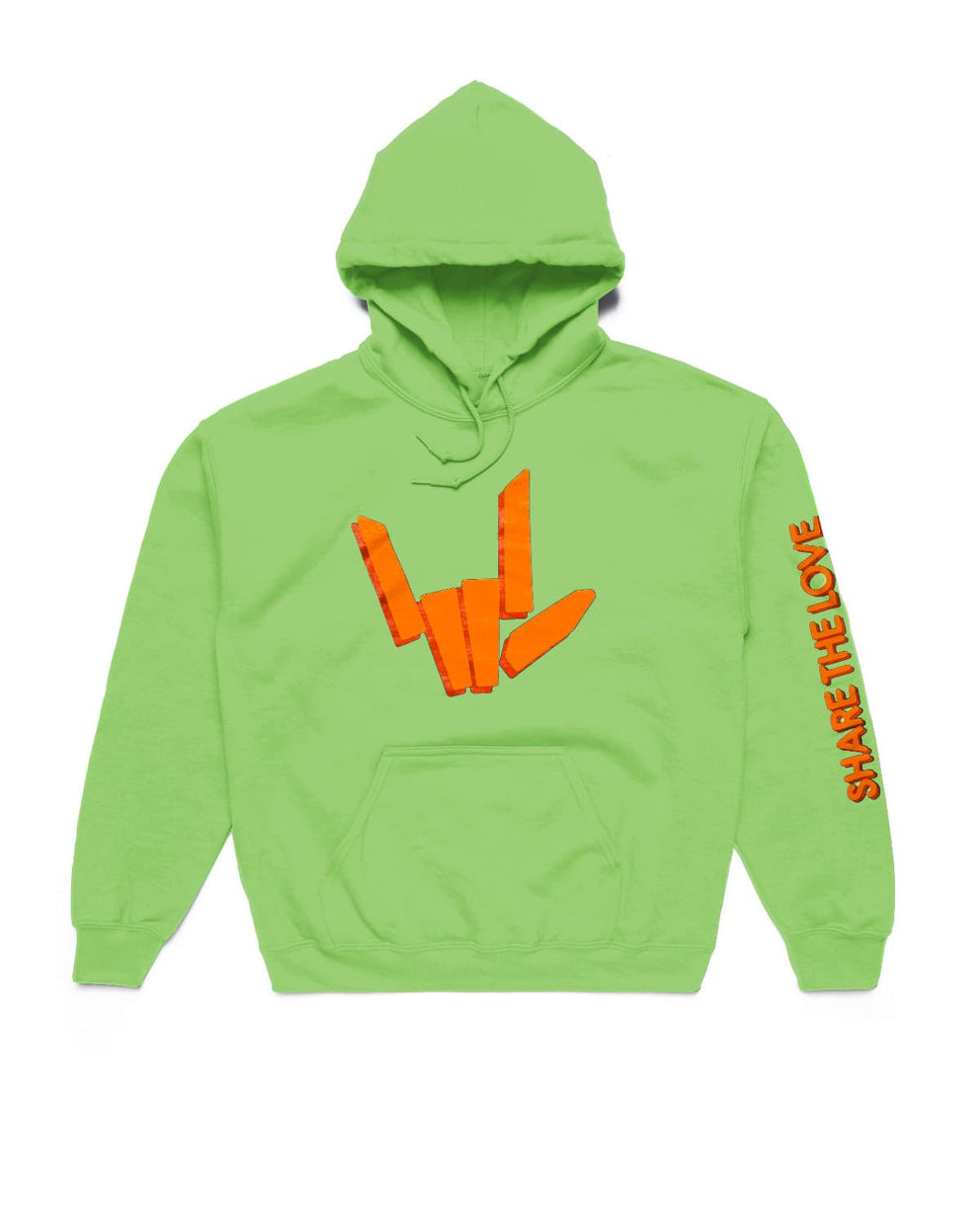 'Share The Love' Hoodie - Neon Green