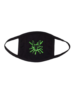 'Share The Love' Splatter Youth Face Mask - Black