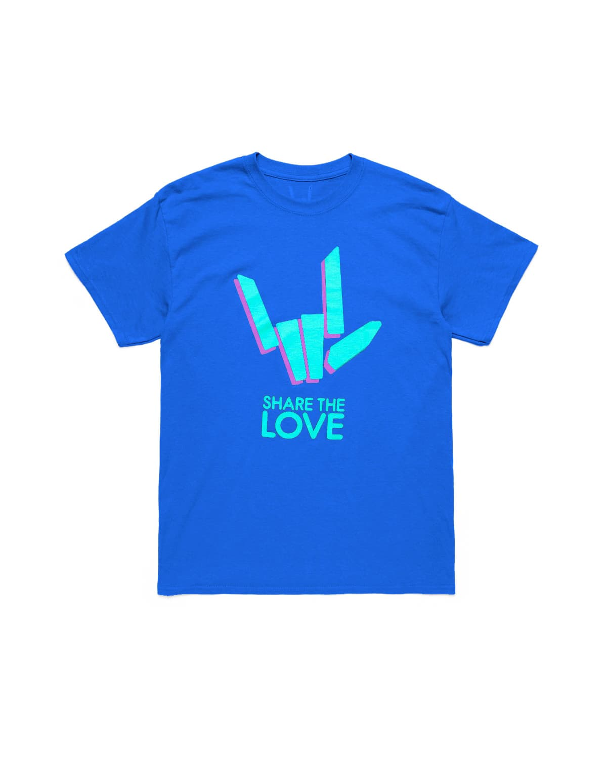 Youth Blue Share The Love Black T-Shirt