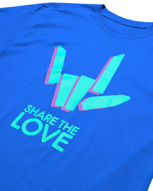 'Share The Love' Tee - Blue