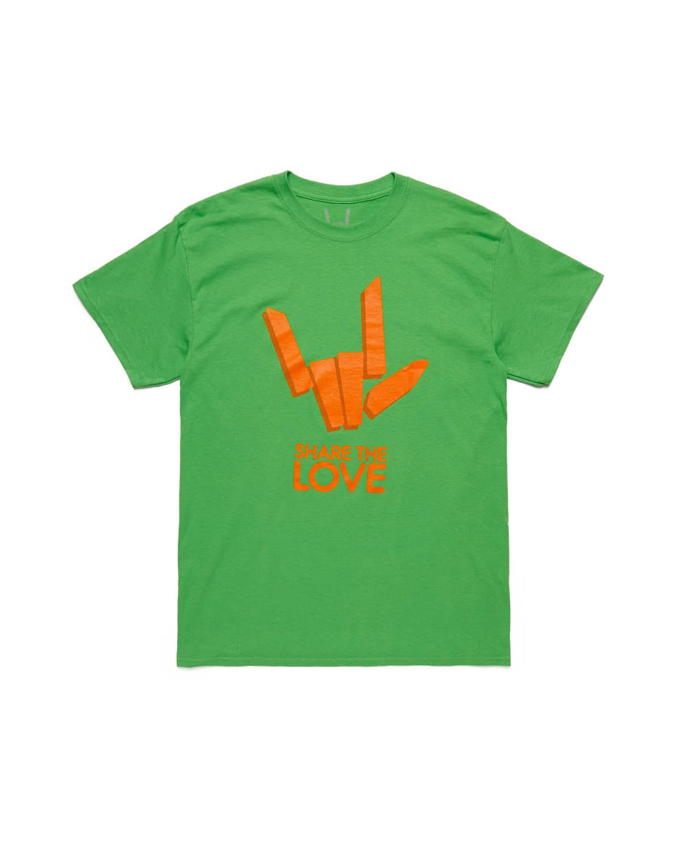 'Share The Love' Tee - Electric Green