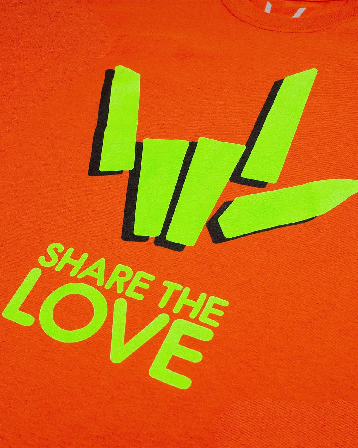 'Share The Love' Tee - Orange