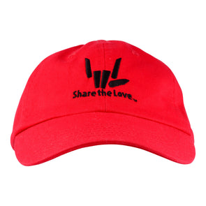 Share the Love Baseball Cap (Red)