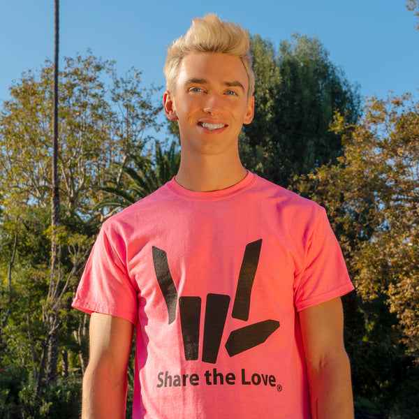 Signature Youth Tee - Neon Pink