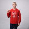Snowflake Crewneck Sweatshirt (Red)